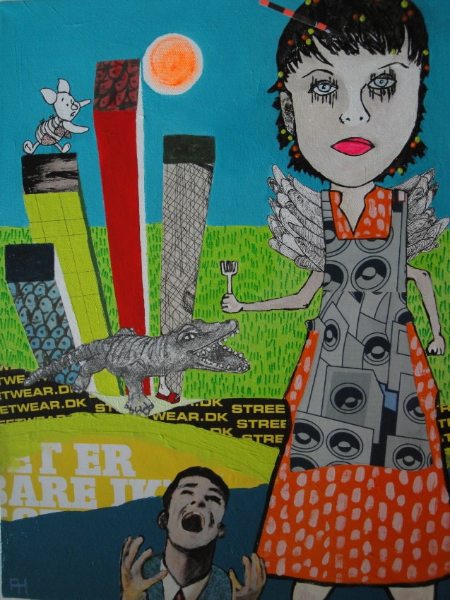 Annie goes to Hollywood (30 x 40 cm)